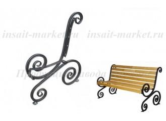 Боковина скамейки Лоза с креплениями