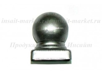 Заглушка с шаром 40х40