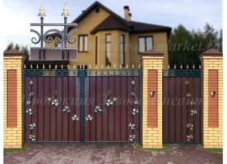 """Ворота """"МП"""" Лоза 2 Ар-Деко"""