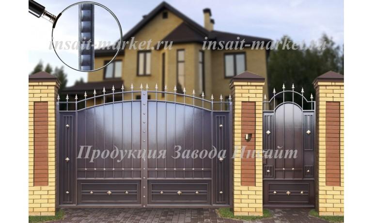 """Ворота """"Дворянские"""" Сетка Ар-Деко"""