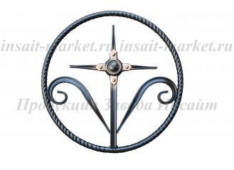 Кольцо витое с крестиком