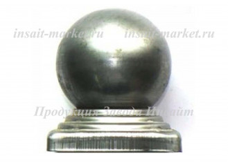 Заглушка с шаром 80х80