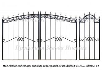 Каркас арочных ворот С8