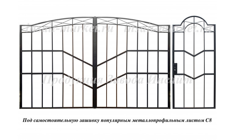 """Каркас ворот """"Скандинавия"""" С8"""