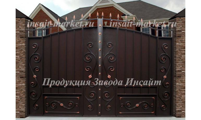 """Ворота """"Дворянские"""" со встроенной калиткой"""