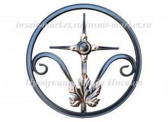 Кольцо с крестиком и листом