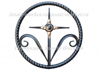 Кольцо витое с крестиком Т-20